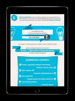 Przedstawienie infografiki na ekranie tabletu